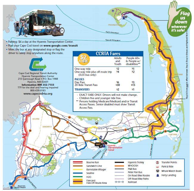 Eastham Cape Cod Map: The Cape Cod Regional Transit Authority